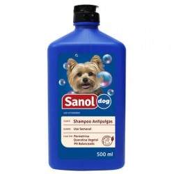 Shampoo Sanol Dog 500ML Antipulgas