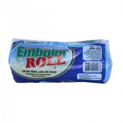 Saco para Embalar Lixo Roll Azul 30lts