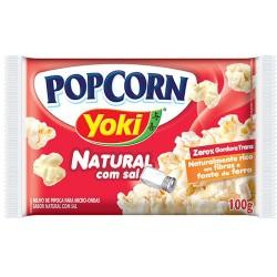 Pipoca Microondas Yoki PopCorn 100gr Sal