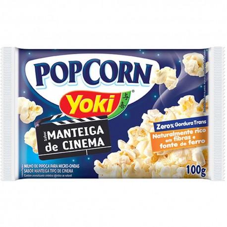 Pipoca Microondas Yoki PopCorn 100gr Man