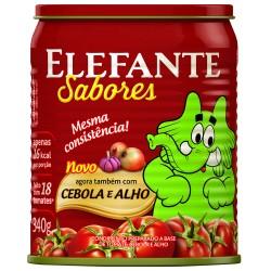 Extrato Tomate Elefante Lata 340gr Cebol