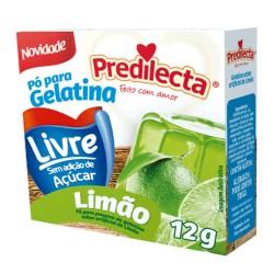 Gelatina Po Predilecta Zero 12gr Limao