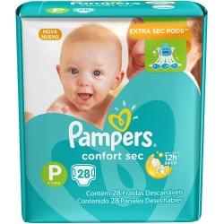 Fralda Pampers Confort Sec com 28un Tam