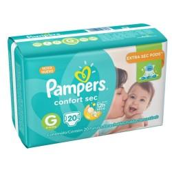 Fralda Pampers Confort Sec com 20un Tam