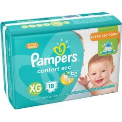 Fralda Pampers Confort Sec com 18un Tam