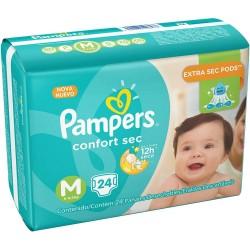 Fralda Pampers Confort Sec com 24un Tam