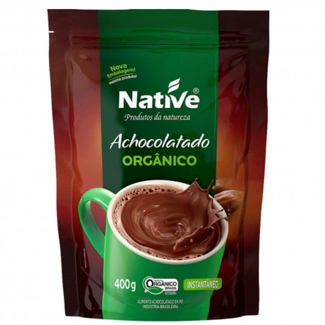 Achocolatado em Po Native Organico Sache