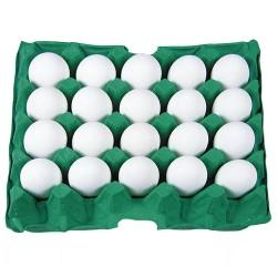 Ovos Brancos Pvc com 20un
