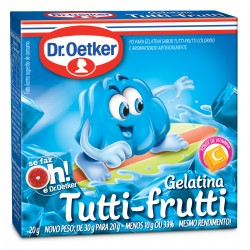 Gelatina em Po Dr.Oetker 20gr Tutti Frut