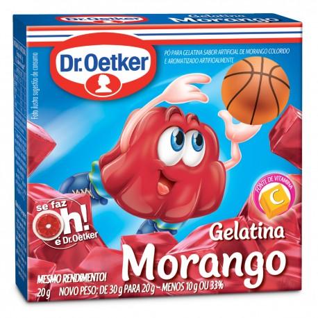 Gelatina em Po Dr.Oetker 20gr Morango
