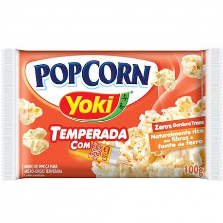 Pipoca Microondas Yoki PopCorn 100gr Toq