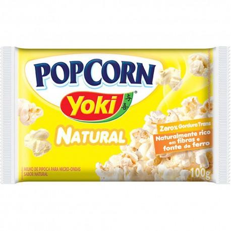 Pipoca Microondas Yoki PopCorn 100gr Nat