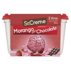 Sorvete Sr.Creme 2lt Morango e Chocolate