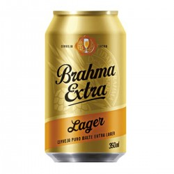 Cerveja Brahma Lata 350ml Extra Lager