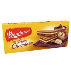Biscoito Wafer Bauducco 140gr Triplo Cho