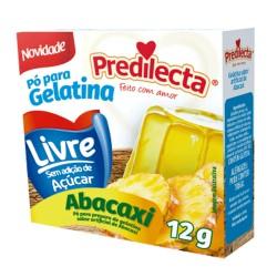 Gelatina Po Predilecta Zero 12gr Abacaxi