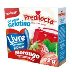 Gelatina Po Predilecta Zero 12gr Morango