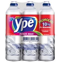 Detergente Ype Kit com 6un 500ml 10% Des