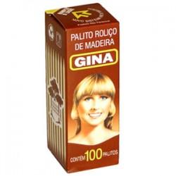 Palito de Madeira Gina com 100un
