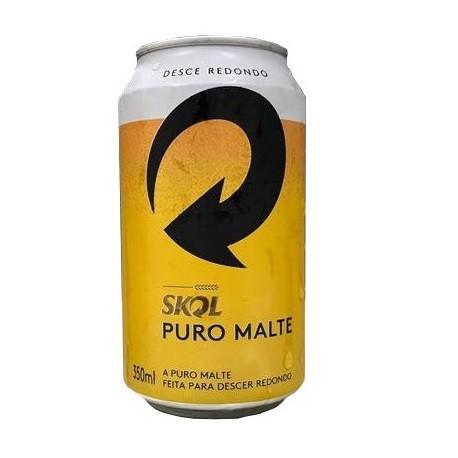 Cerveja Skol Puro Malte Lata 350ml