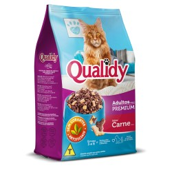 Ração P/ Gatos Qualidy 500gr Adulto Carn