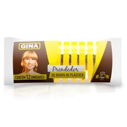 Prendedor Plastico Gina com 12un