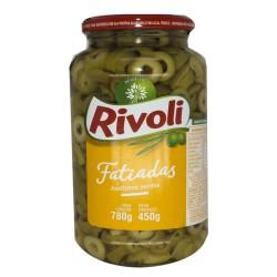 Azeitona Rivoli Fatiada 450gr Verde