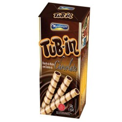 Wafer Recheado Tubin 48gr Chocolate