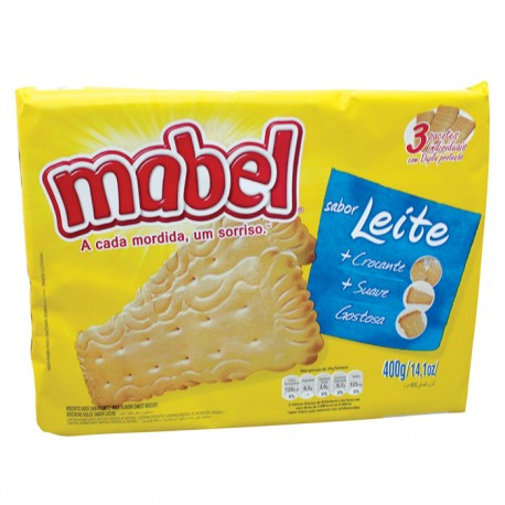 Biscoito Mabel 400gr Leite