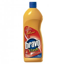 Cera Bravo Flash 750ml Vermelha