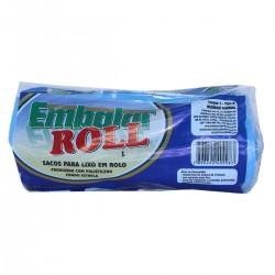 Saco para Embalar Lixo Roll Azul 100lts