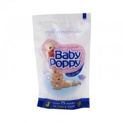 Lenco Umedecido Baby Poppy Refil com 75u
