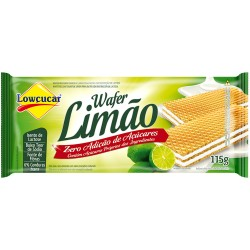 Biscoito Wafer Lowcucar Zero 115gr Limao