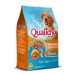 Ração P/ Cães Qualidy 900gr Filhote Carn