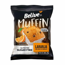 Muffin Belive Zero 40gr  Laranja\Gotas C