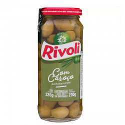 Azeitona Rivoli com Caroço Vd 200gr Verd