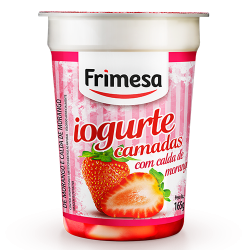 Iogurte Bicamadas Frimesa 165gr Morango