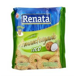 Biscoito Amanteigado Renata 330gr Coco
