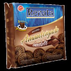 Biscoito Amanteigado Renata 330gr Chocol