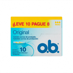 Absorvente O B Super Leve 10un e Pague 8