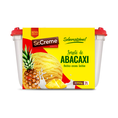 Sorvete Sr.Creme 2lt Abacaxi