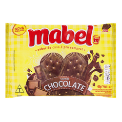 Biscoito Mabel 400gr Chocolate