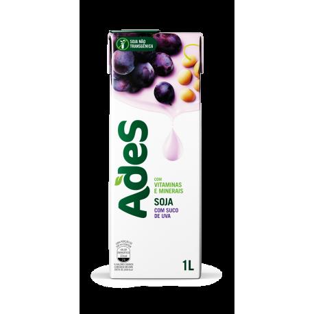 Alimento de Soja Ades 1Lt Uva