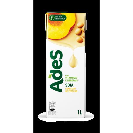 Alimento Soja Ades 1lt Pessego