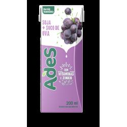 Alimento de Soja Ades 200ml Uva