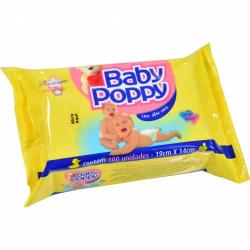Toalha Umidecida Baby Poppy 100un