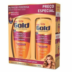 Kit Niely Gold Shampoo 300ml+Condic 200m