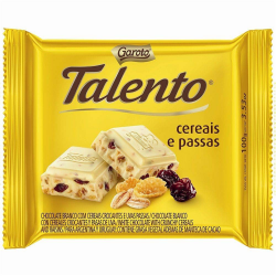 Chocolate Talento 90gr Branco com Cereai