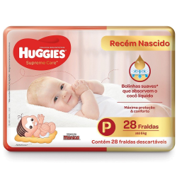 "Fralda Huggies Superme Care Jumbo Tam ""p"" Com 28Un"