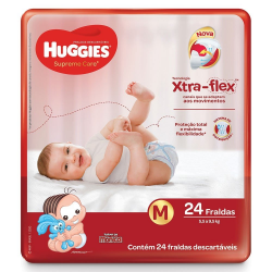 Fralda Huggies Supreme Care Jumbo Tam. M